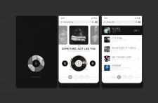 mobile app design music player