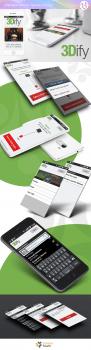 Оформление презентации мобильного приложения 3Dify