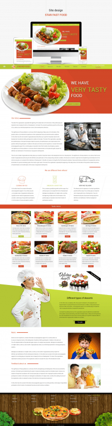 Site design STAR FAST FOOD