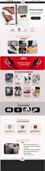Дизайн интернет-магазина летней одежды