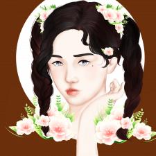 Иллюстрация девушки с азиатской внешностью.