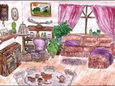 Интерьер комнаты для детской книги