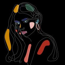 Линейный арт портрет