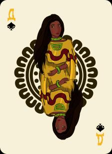 Spielkarten Indians- Farbig4