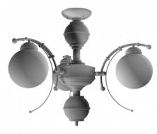 Моделирование люстры на заказ