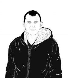 Линейная графика Портрет