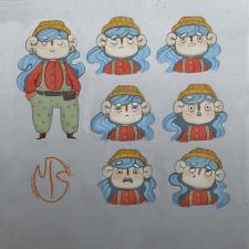 Стикеры/персонаж «Девочка Блу»