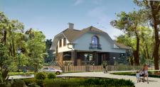 Проект и визуализация загородного дома