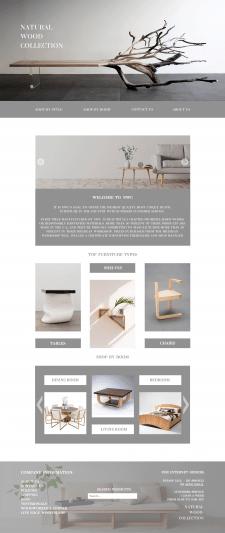 Дизайн сайта мебли
