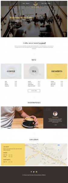 Простой сайт для кафетерия