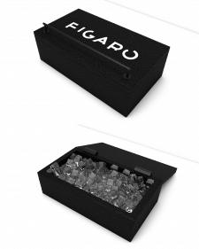 3д визуализация коробки для хранения льда