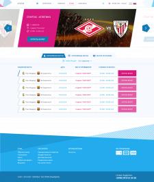 Дизайн для продажи билетов онлайн