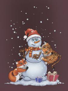 Для новорічної листівки
