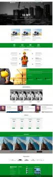 Макет сайта для строительной компании