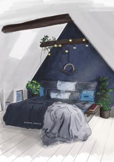 Полочка на кровать