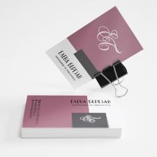 Дизайн визитки с монограммой