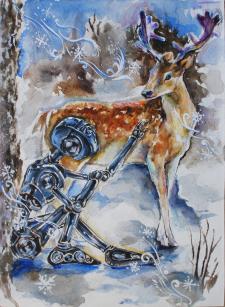 Иллюстрации для открытки