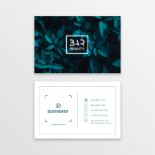 Дизайн визитных карт для студии красоты