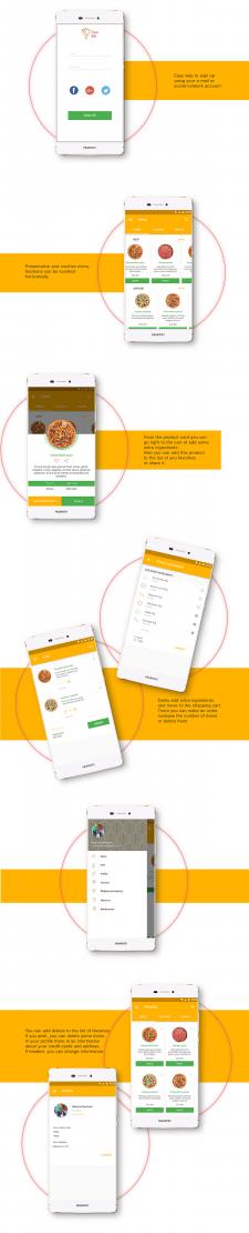 Дизайн моб. приложения для заказа пиццы