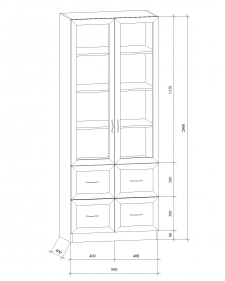 Шкаф двустворчатый