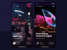 Photo preview ios app concept