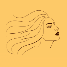 Векторный женский портрет