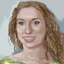 Портрет выполненный на графическом планшете.