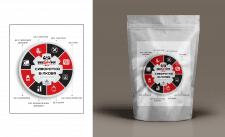 Дизайн наклейки на пакет спортивного питания