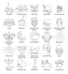 Линеарные иконки Вектор