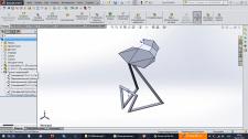 Bar stool (Sheet metal, Solidworks)