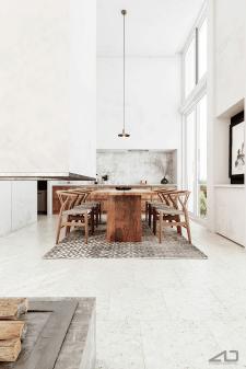 Кухня- студія в мінімалістичному стилі