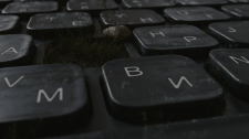 Клавиатура с травой
