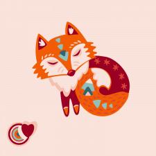 Стикер, Иллюстрация Foxy