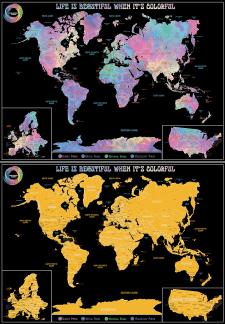 Макет скрейч карти світу