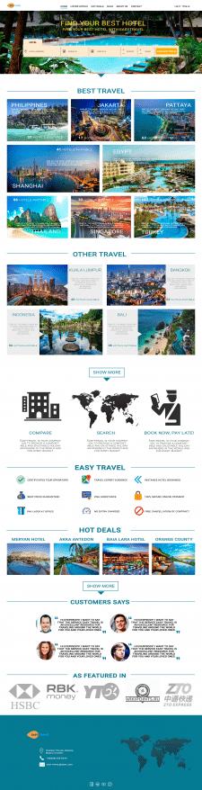 Стартовая страница сайта, туристические услуги