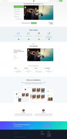 Сайт услуг по обработке фото с возможностями CRM