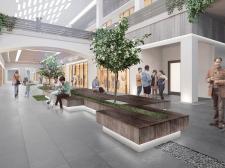 Визуализация концепта интерьера торгового центра.