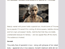 Sexiest Females in Game of Thrones