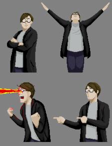 1 серия пиксельных стикеров
