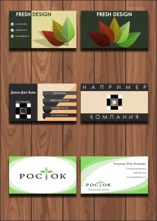 Примеры разработанных визиток