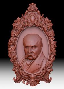 3D модель Тараса Шевченко