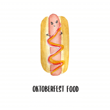Snack for beer. Oktoberfest snack. Hot Dog.