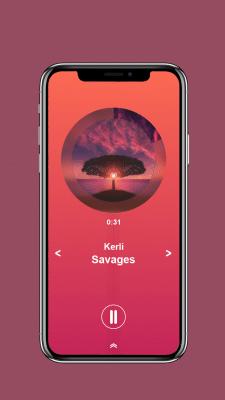 Music player screen mobile app.