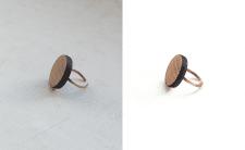 """Ретушь украшений """"деревянное кольцо"""""""