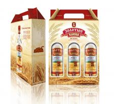 Золотые хлеба. Коробка для водки.