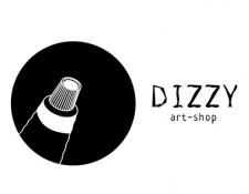 Логотип для художественного магазина Dizzy