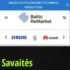 Интернет магазин Shopify - Baltic Remarket