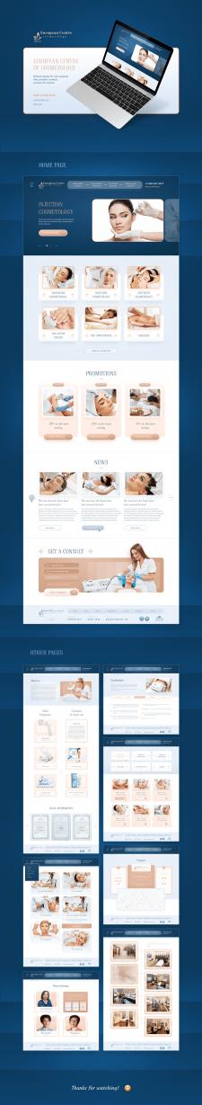 Дизайн сайта для центра косметологии