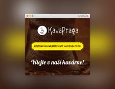 Лендинг чешского кафе «КаваПрага»