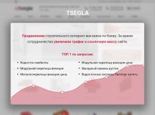 """SEO-продвижение сайта """"Tsegla"""""""